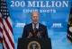 El presidente Joe Biden al anunciar que su gobierno ha alcanzado la aplicación de 200 millones de vacunas contra el COVID-19, en la Casa Blanca, Washington, el 21 de abril de 2021. (AP Foto/Evan Vucci, File)